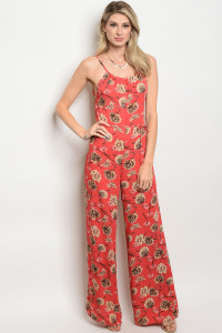 135-4-2-J1400 CORAL TAN JUMPSUIT 4-2