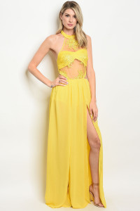 128-2-3-D17466 YELLOW DRESS 2-2-2