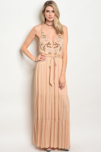 109-2-4-D16776 TAUPE DRESS 3-2-2