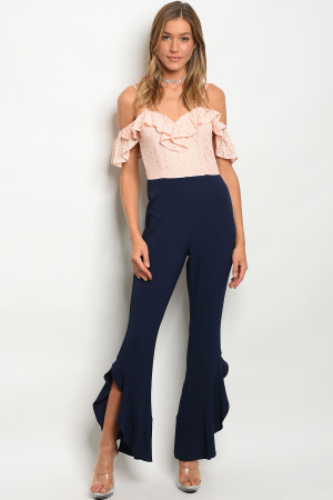 135-3-3-J16673 BLUSH NAVY JUMPSUIT 2-2-2