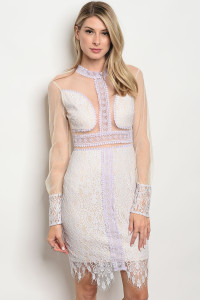116-3-4-D16373 LAVENDER NUDE DRESS 3-2-2
