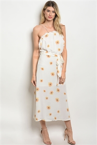 112-4-1-D32098 OFF WHITE FLORAL DRESS 3-2-1