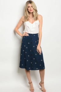 S14-10-3-S50569 NAVY WHITE SKIRT 3-2-1