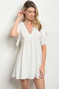 S13-1-4-D32122 OFF WHITE DRESS 3-2-1