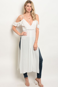 123-3-3-T13368 OFF WHITE OFF SHOULDER TOP 3-2-1