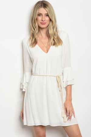 S13-2-1-D32138 OFF WHITE DRESS 3-2-1