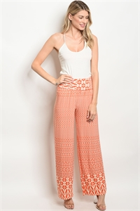 C84-A-6-P2232 CREAM ORANGE PANTS 2-2-2
