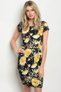C27-A-4-D113253 NAVY YELLOW DRESS 2-2-2
