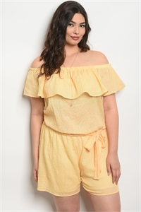 C100-A-1-J5810X YELLOW PLUS SIZE ROMPER 2-3-3