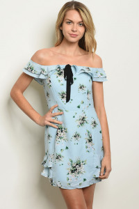 S14-8-4-D62754 BLUE FLORAL LACE DRESS 2-2-2