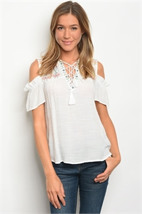 S14-8-3-T31256 WHITE OFF SHOULDER TOP 2-2-2