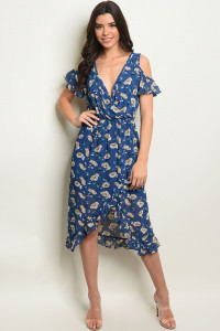 S14-8-2-D3745 NAVY WITH PRINT DRESS 2-2