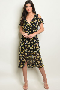 S14-7-6-D3745 BLACK WITH PRINT DRESS 2-2-2