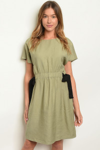 S14-7-6-D5342 HUNTER GREEN DRESS 2-2-2