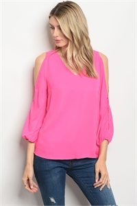 S14-7-4-T5093 FUCHSIA TOP 2-2-2