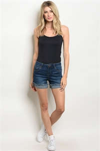 S13-10-3-S1190 NAVY DENIM SHORT 1-1-2-1