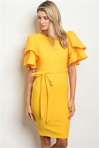 C61-A-3-D050233 YELLOW DRESS 2-2-2