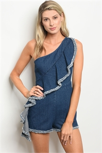 S15-3-5-R15189 BLUE DENIM ROMPER 3-2-1