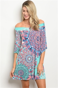 C17-A-1-D501681 MINT MULTI DRESS 2-2