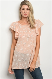 C17-B-1-T30505 PEACH WHITE TOP 2-2