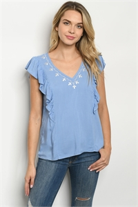 136-2-3-T9462 BLUE WHITE TOP 2-2-2