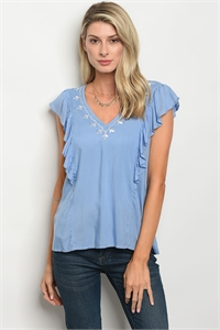 S14-12-3-T9462 BLUE WHITE TOP 3-2-2
