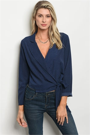 S15-3-3-T9609 NAVY WHITE TOP 2-2-2