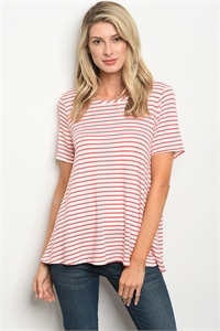 C44-B-1-T8069 IVORY RED STRIPES TOP 2-2