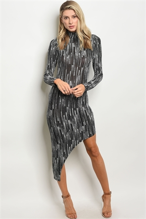 C14-A-6-NA-D18734 BLACK SILVER WITH SHIMMER DRESS 2-2-1