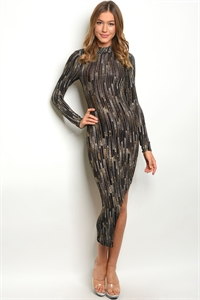 C25-A-1-NA-D18734 BLACK GOLD WITH SHIMMER DRESS 2-3