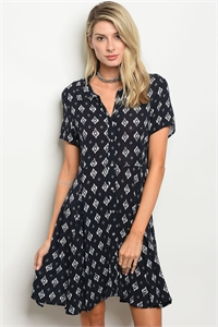135-2-5-D14286 NAVY OFF WHITE DRESS 2-1