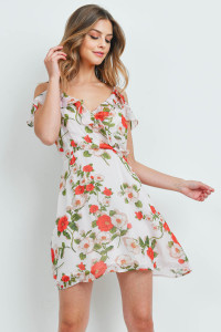 S15-4-5-D62769 OFF WHITE FLORAL DRESS 2-2-2