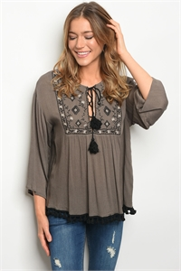 S14-3-5-T7267 OLIVE TOP 2-2-2