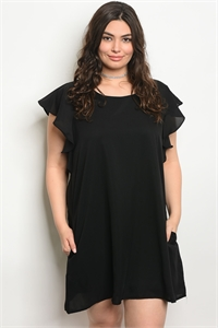 S14-11-3-D42124X BLACK PLUS SIZE DRESS 3-2-1