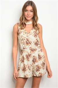 S2-10-3-R80808 STONE FLORAL ROMPER 2-2-2