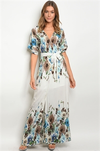 S13-1-4-D42061 OFF WHITE FLORAL DRESS 2-2-2