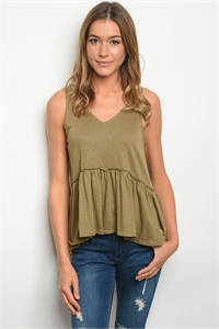 135-3-5-T24026 OLIVE TOP 2-2-2