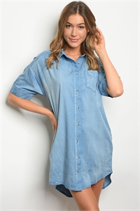 S14-8-6-D42137 BLUE DENIM DRESS 2-2-2