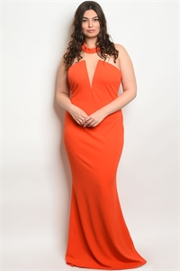 SA4-6-1-D1145X TOMATO PLUS SIZE DRESS 2-2-2