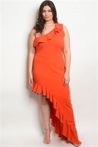 SA3-6-2-D9038X TOMATO PLUS SIZE DRESS 2-2-2