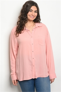119-2-2-T59129X BLUSH PLUS SIZE TOP 3-2-2