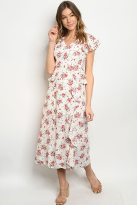 S17-1-1-D32351 OFF WHITE FLORAL DRESS 1-1-1