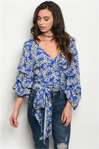 S17-7-5-T15568 ROYAL FLORAL TOP 2-2-2