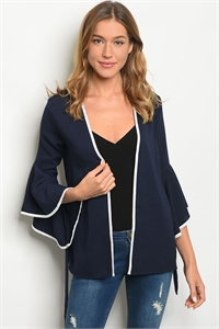 S16-5-5-NA-J10632 NAVY WHITE JACKET 2-2-2
