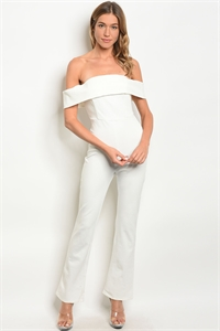 S15-1-4-J5544 OFF WHITE OFF SHOULDER JUMPSUIT 3-2-1