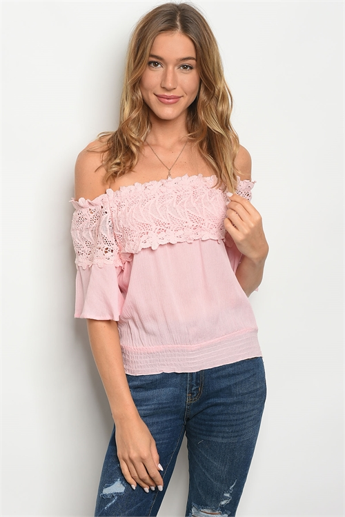 S18-6-1-T8090 PINK OFF SHOULDER TOP 2-2-2