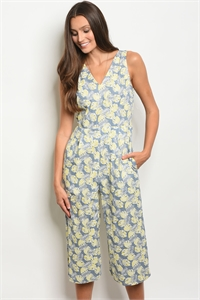 114-1-4-J81186P-R GREY YELLOW JUMPSUIT 2-2-2