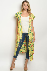 S25-3-2-D62718 YELLOW FLORAL DRESS 2-2-2