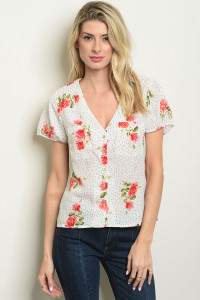 S2-7-1-T59269 WHITE FLORAL TOP 2-2-2