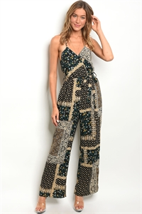 241-2-5-R38651 BLACK TAN JUMPSUIT 2-2-2